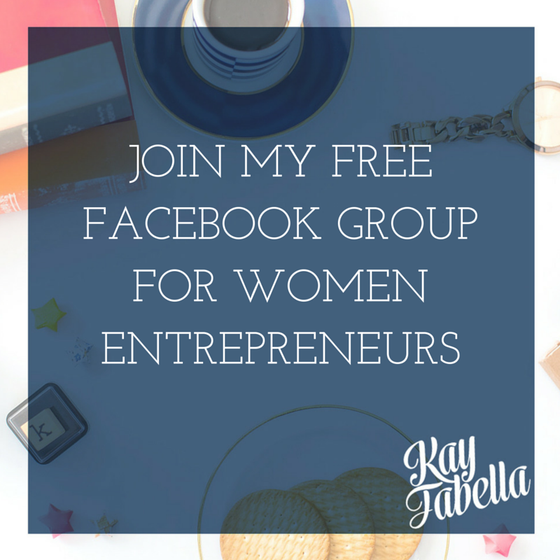 Free Facebook group for women entrepreneurs with Kay Fabella